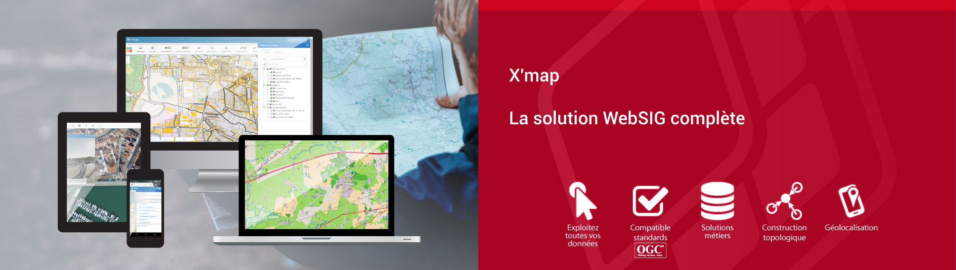 X'map, la solution WebSIG complète.
